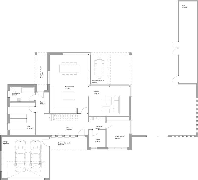 Marvelous 2 Vollgeschosse // Flachdach // Bauhausarchitektur // Haus Auf Bodenplatte  // Baufeld 20,00m X 19,50m Für Haus Und Garage // 2 Arbeitszimmer Und Sauna  Im ...