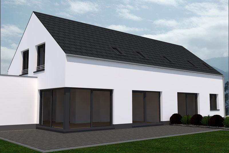 einfamilienhaus in b leben deura. Black Bedroom Furniture Sets. Home Design Ideas