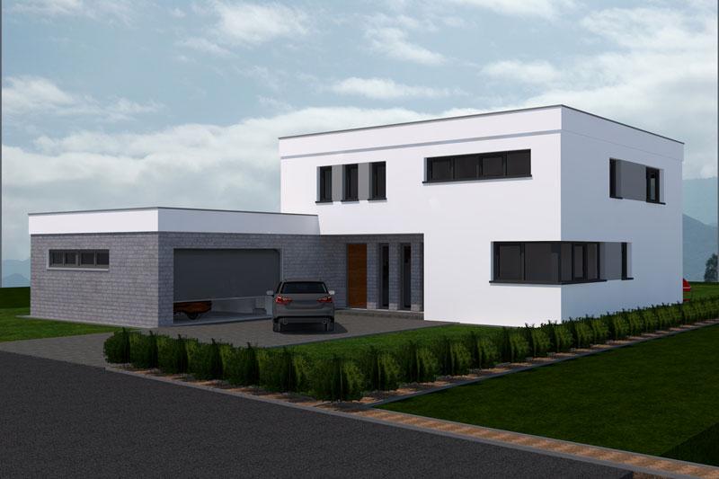 Aktuelle kundenentw rfe deura for Flachdachhaus mit garage