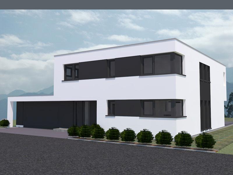 Haus mit doppelgarage flachdach  Aktuelle Kundenentwürfe