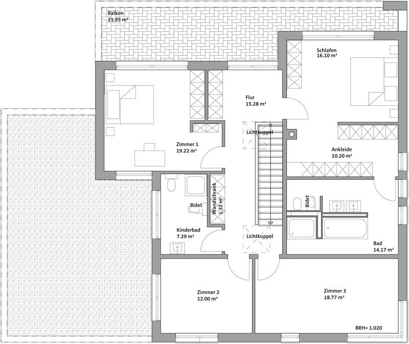 Einfamilienhaus s dlich von leipzig deura for Grundriss einfamilienhaus 2 vollgeschosse
