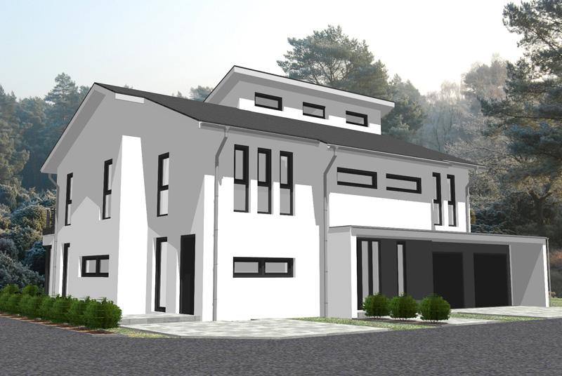 Einfamilienhaus mit integrierter doppelgarage satteldach  Aktuelle Kundenentwürfe