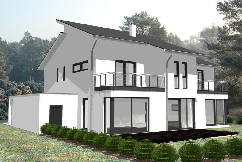Moderne häuser mit versetztem pultdach  Einfamilienhaus in Steinbach(Taunus)