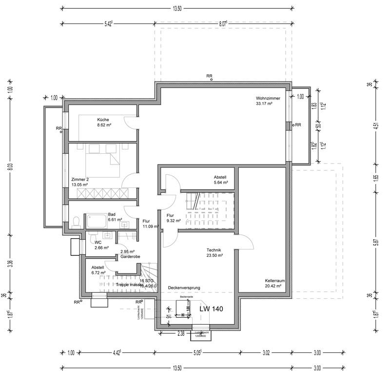 Einfamilienhaus in steinbach taunus deura for Grundriss einfamilienhaus 2 vollgeschosse